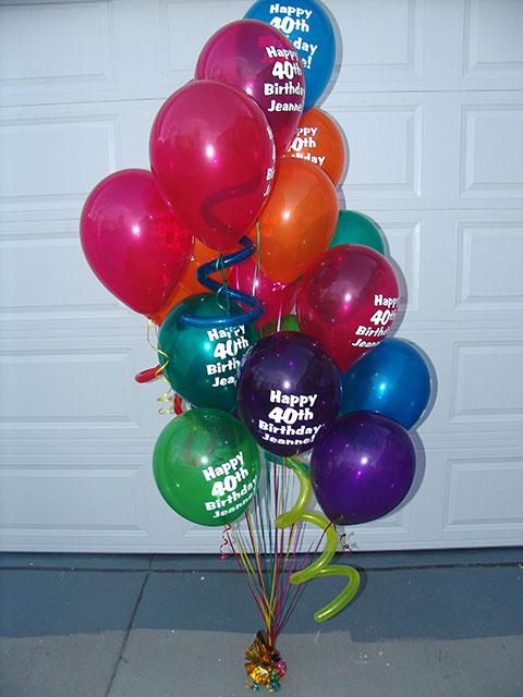 40th birthday balloons 2