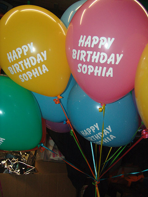 custom printed birthday balloons