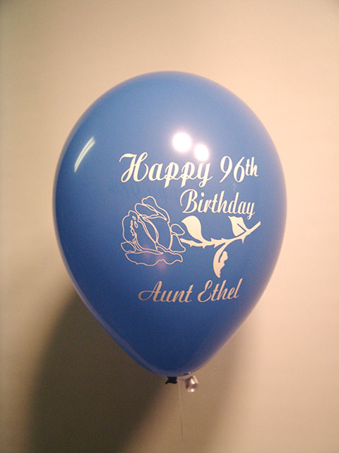 90th birthday custom balloons