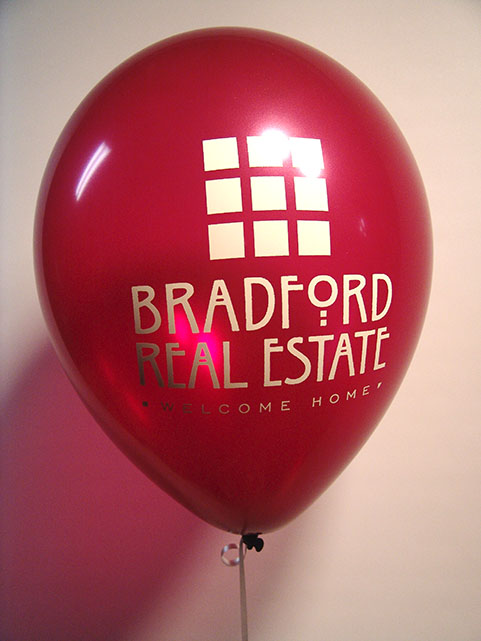 printed logo balloons