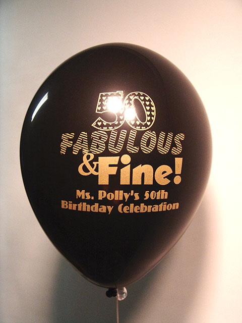 50th printed birthday balloons