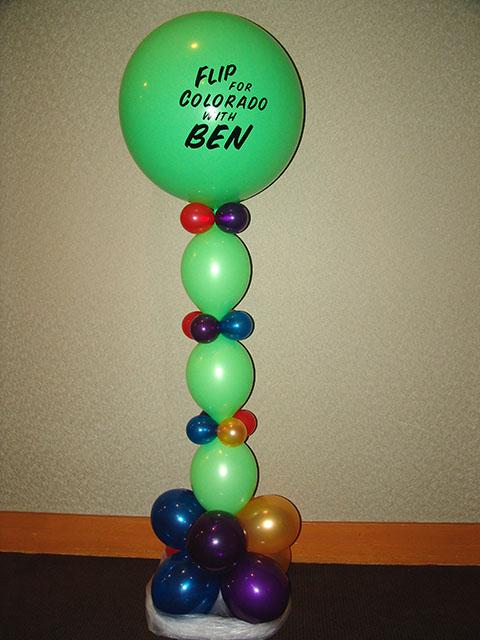 custom printed campaign balloons