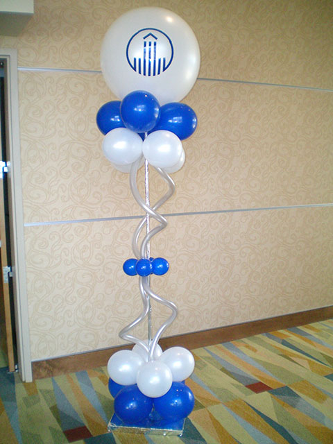 Vinyl decals on large balloons