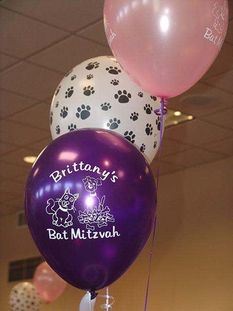 Printed Bat Mitzvah Balloons