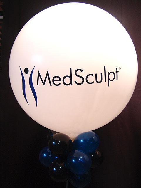 two color logo vinyl large balloon