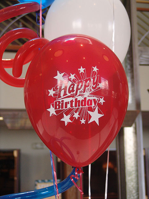 fantastic printed birthday balloons