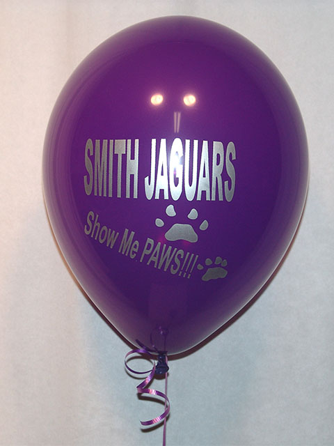 custom printed school sports balloons