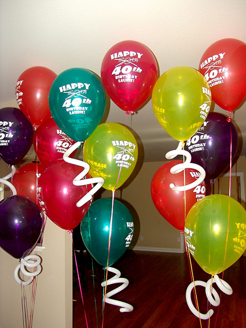 printed balloon bouquets