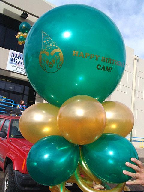 CU custom printed large balloons