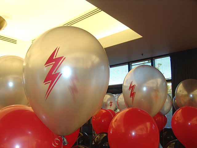 kinder morgan custom printed balloons
