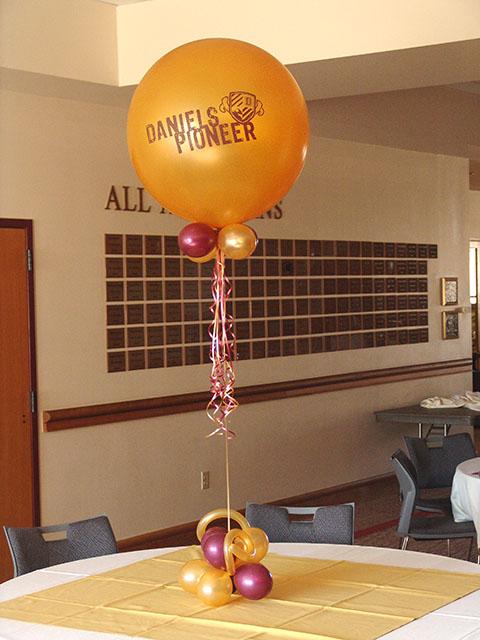 large fun printed balloons
