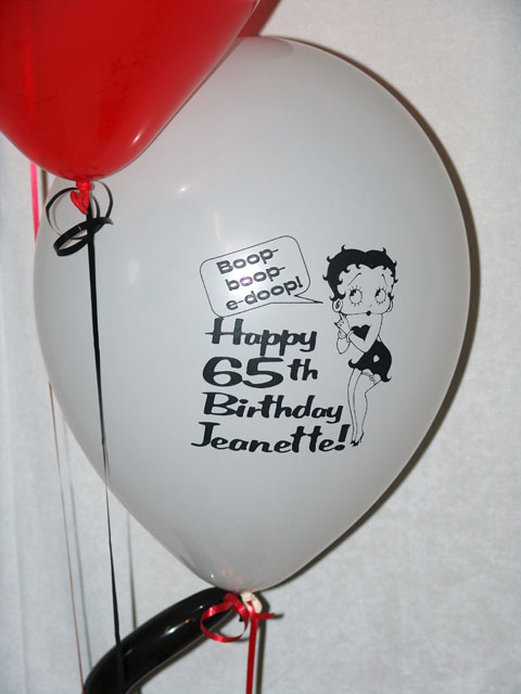 special printed birthday balloons