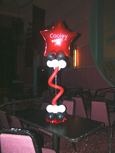 custom printed mylar balloon centerpiece