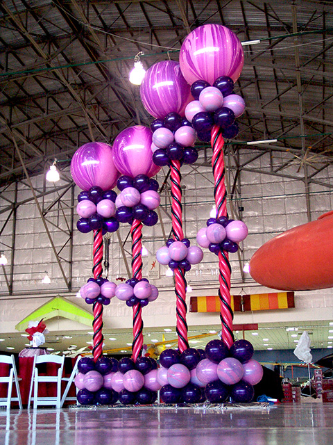 Hearts of all ages balloon columns